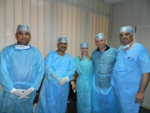Robotic surgery training course at World Laparoscopy Hospital, Gurgaon.